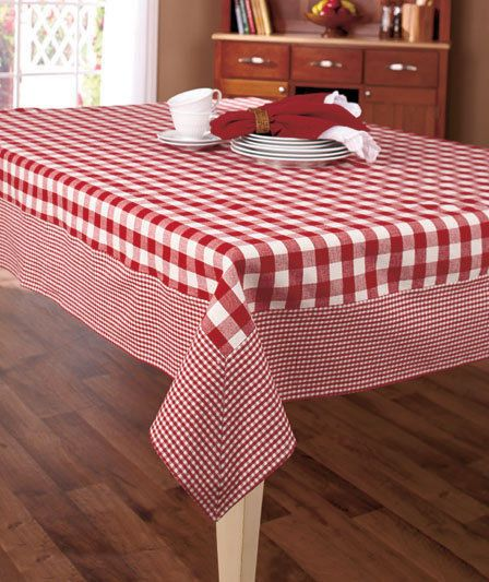 Burgundy Country Gingham Check Tablecloth Kitchen Table Dining Stunning Tablecloth For Dining Room Table 2018
