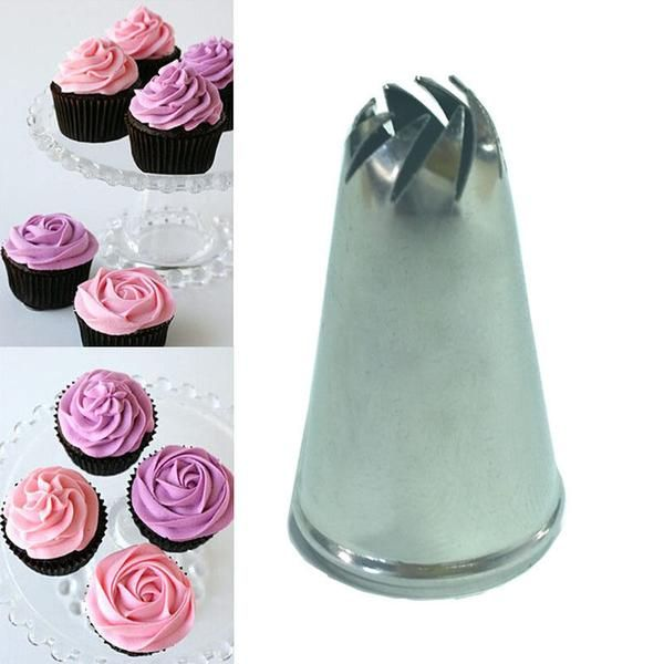 Type: Cake ToolsMaterial: Stainless SteelFeature: Eco-FriendlyCertification: CIQCake Tools Type: Dessert DecoratorsModel Number: DWA22Size: 3.5 x 2cm/1.4 x 0.8i #cupcakefrostingtips