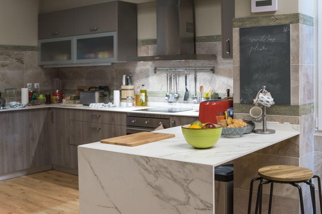 Cocina Serie De Televisi N El Accidente Encimera Con Efecto  ~ Encimeras De Cristal Para Cocinas