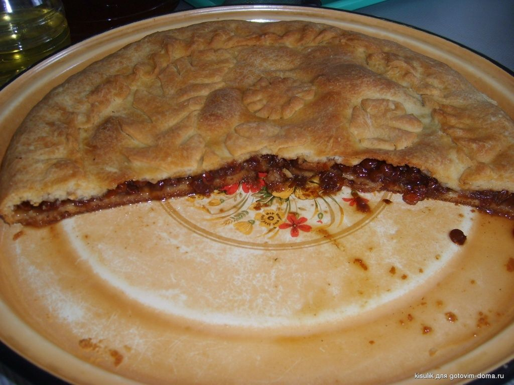 Пирог с калиной по татарски