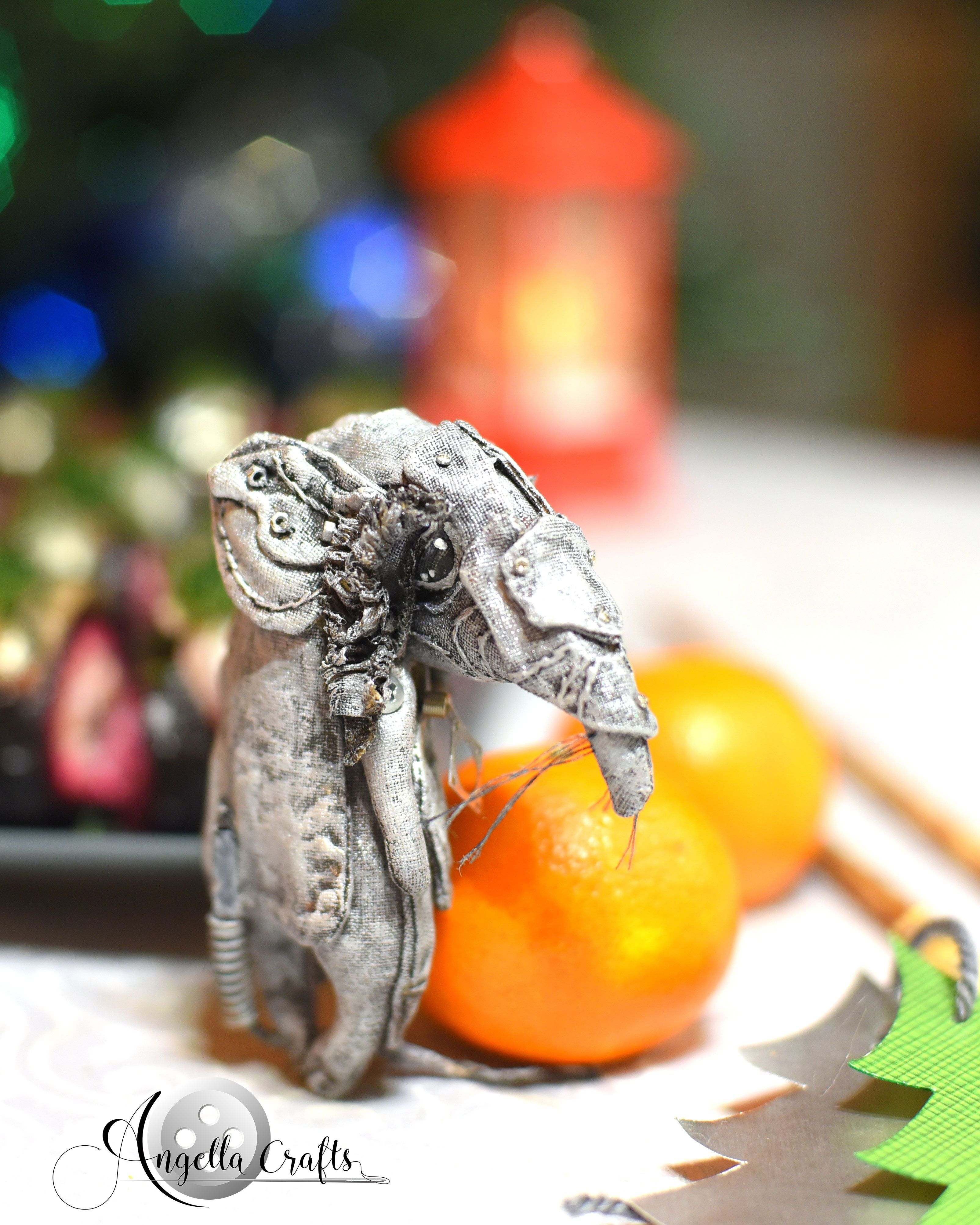 Rearview Mirror New Year 2020 -2019 Christmas Our first christmas. Metal rat   symbol new year 2020. Gray rat