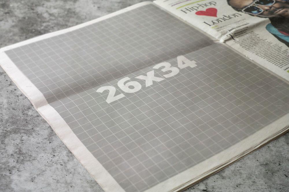 Newspaper Mockup Psd Template Designs For Designers  Mockups