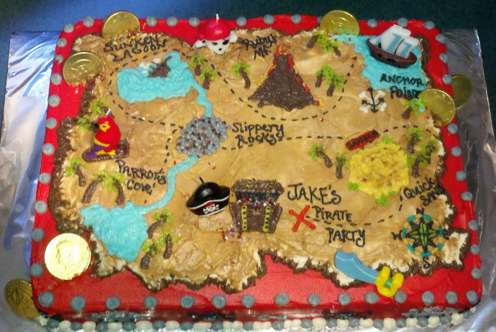 Treasure Map Birthday Cake Ideas