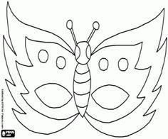 Kleurplaten En Maskers.Vlinder Masker Kleurplaat Oyuncak Kagit Ve Kartonlar Carnaval