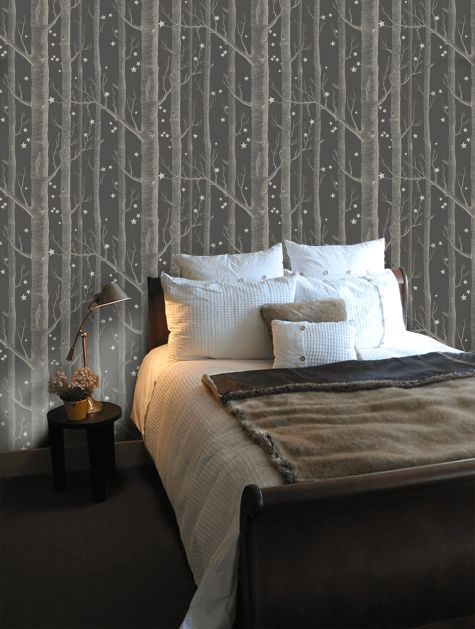 Blackthorn Blue Wallpaper Bedroom Cole Son Wallpaper Interior