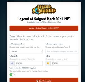 99999 Diamonds* Legend of Solgard Hack Cheats Mod For
