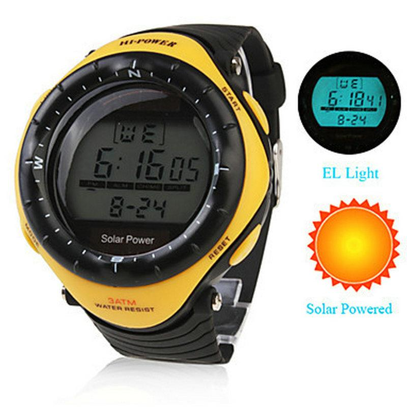 Unisex Solar Powered Multi-Functional Digital WristWatch Wateproof Men's sports watches Relogio esportivo Male relojes Clock #sportswatches