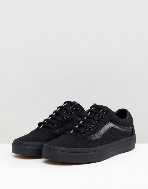 97bb51b7db283a Vans Classic Old Skool Trainers In All Black in 2019