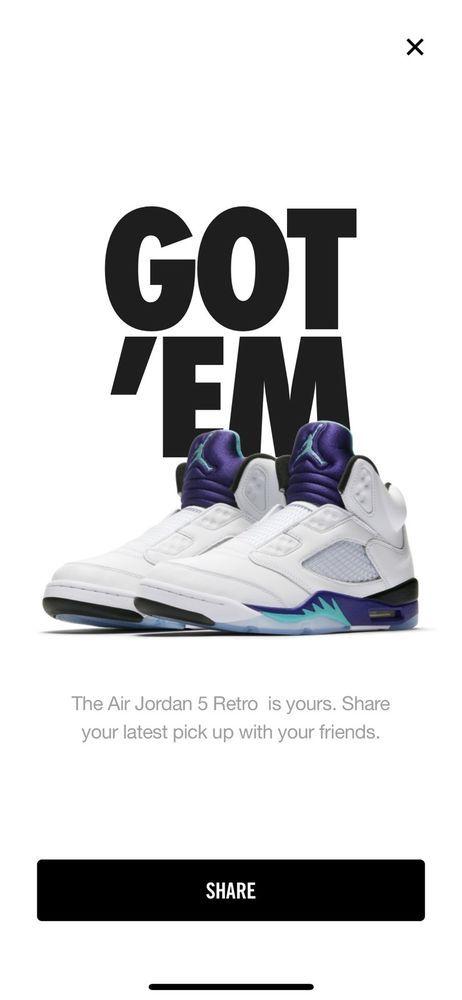 f27433aa3a2f88 Nike Air Jordan 5 V Retro SZ 9 Fresh Prince NEW DS Grape OG AV3919-135   fashion  clothing  shoes  accessories  mensshoes  athleticshoes  ad (ebay  link)