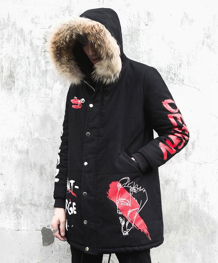 winter kapuze jacke fake fur