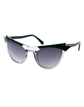 ASOS Cat Eye Sunglasses With Wing Detail