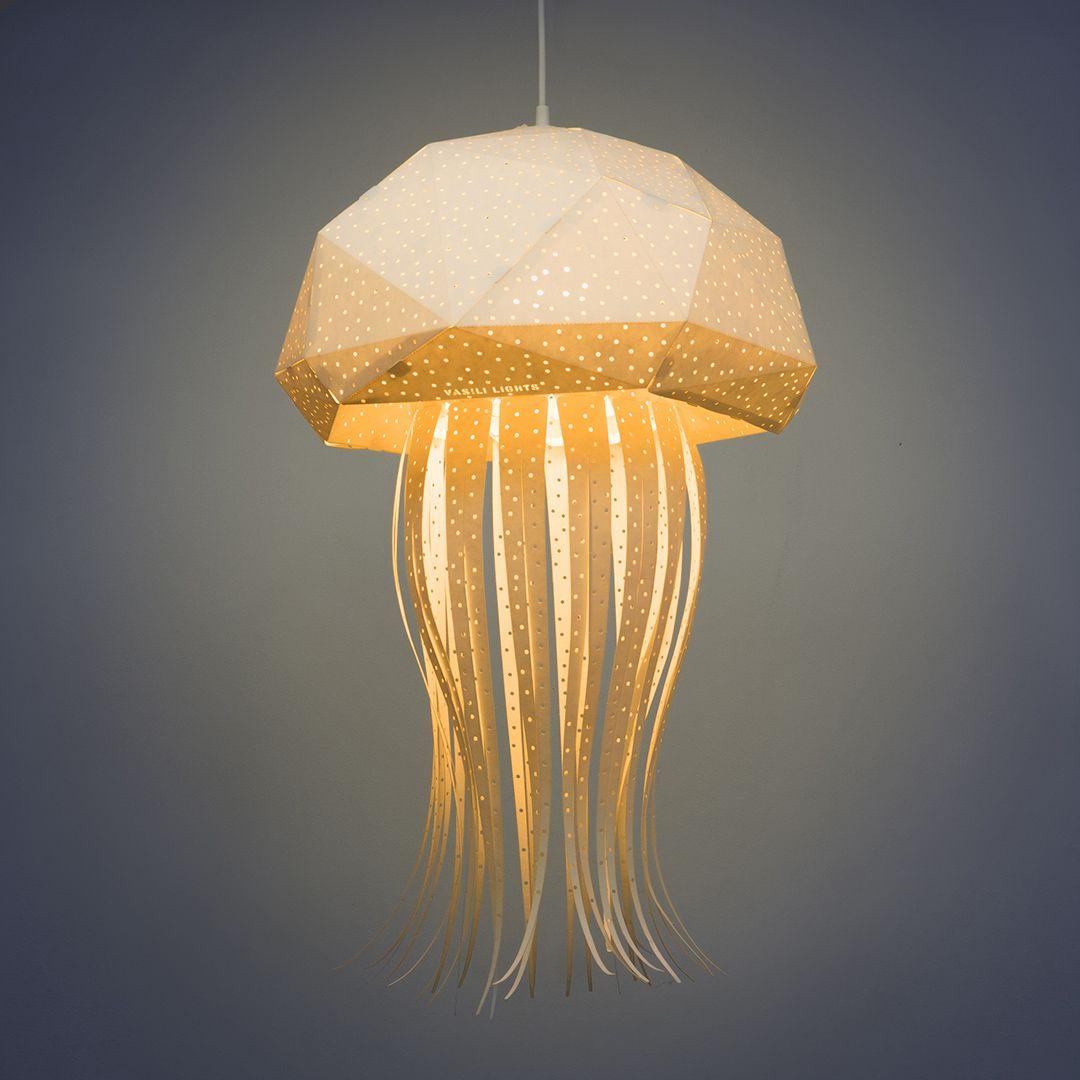 Quallen DIY Lampenschirm, Papier Lampenschirm, Wohnzimmer