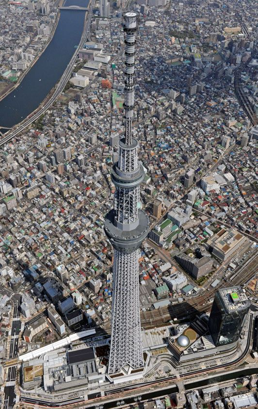 Tallest tower in the world opens  2,080ft Skytree in Tokyo   to be unveiled tomorrow