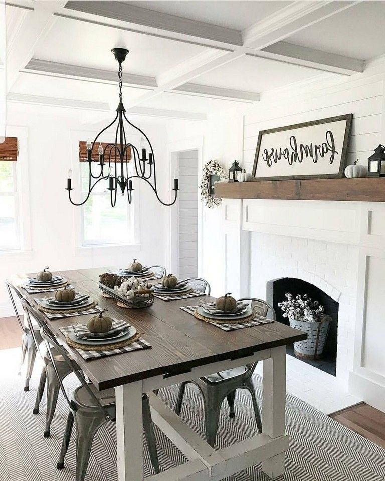 55 awesome farmhouse dining room table and decorating