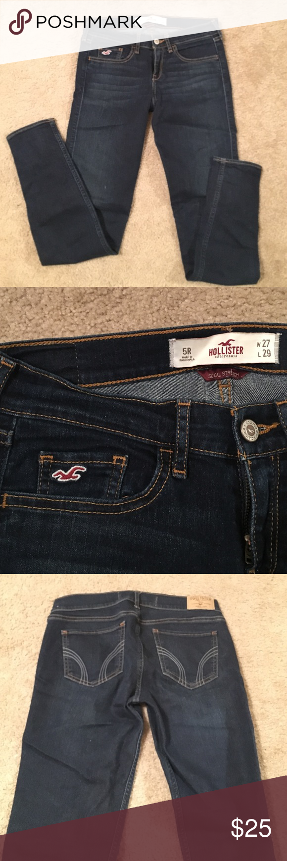 Hollister Jeans Size 5R. Stretchy, skinny jeans. Like new. Hollister Jeans Skinny