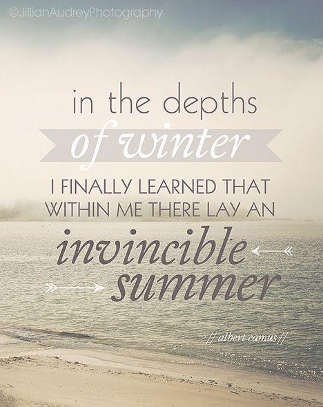 Invincible Summer Quote Print Beach Ocean