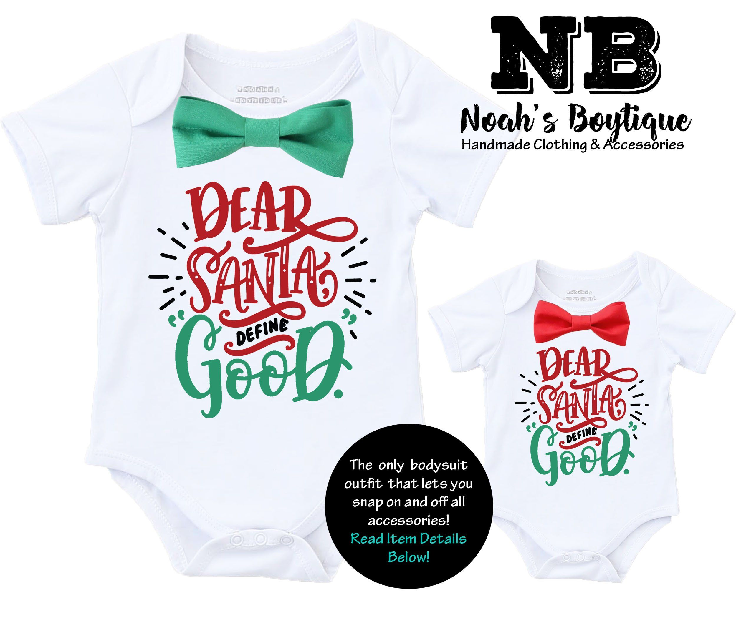 Baby Boy Christmas Outfit Dear Santa Define Good Shirt  Baby boy