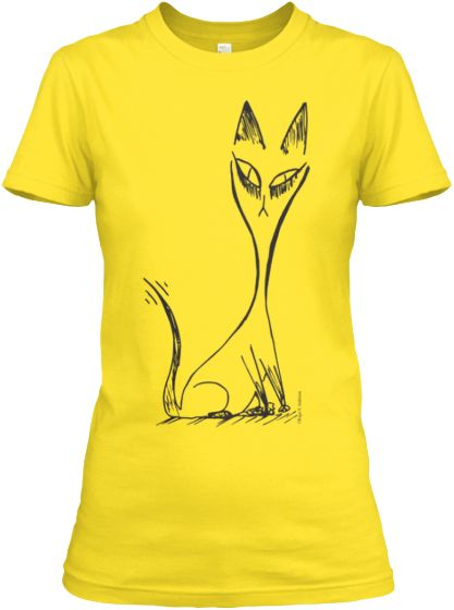 Cat http://teespring.com/cat-black-daisy-yellow  A cat by minimalist artist Roger E. Anderson.  A simple and elegant design, it is just enough to bring a smile to the feline enthusiast in anyone.  Enjoy!