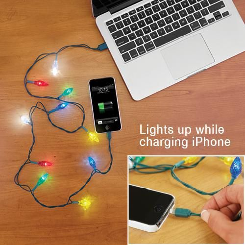 CHRISTMAS LIGHT UP iPHONE CHARGER | Taylor Gifts | Novelty ...