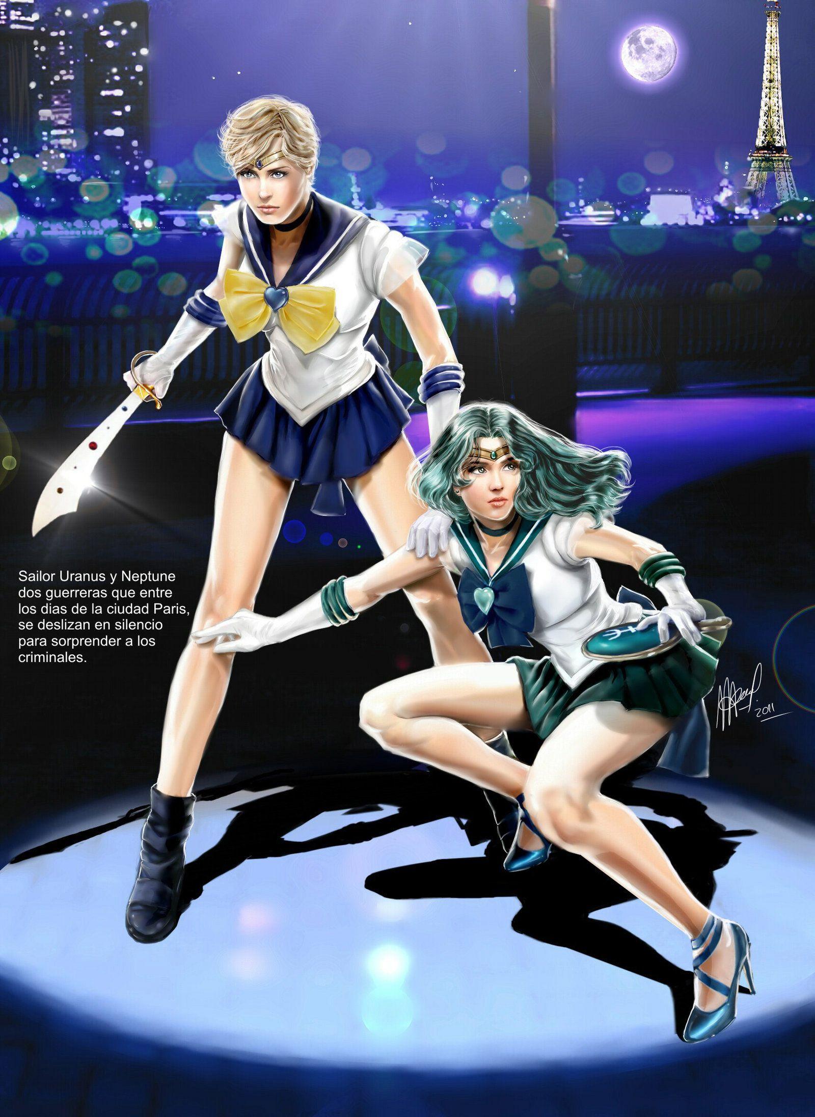 Sailor Uranus and Neptune.