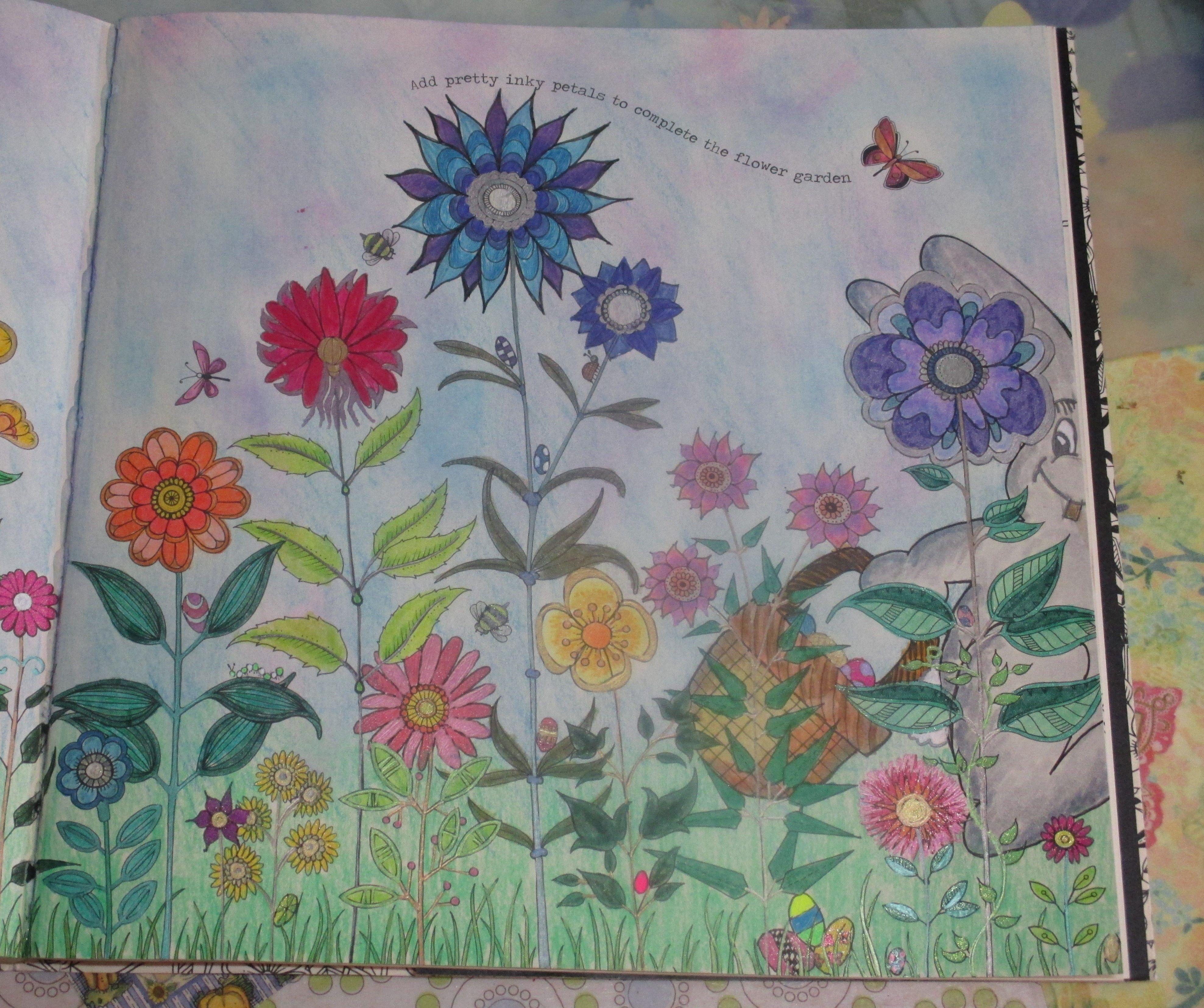 Johanna Basford Secret Garden Finish The Flowers Page Easter Bunny