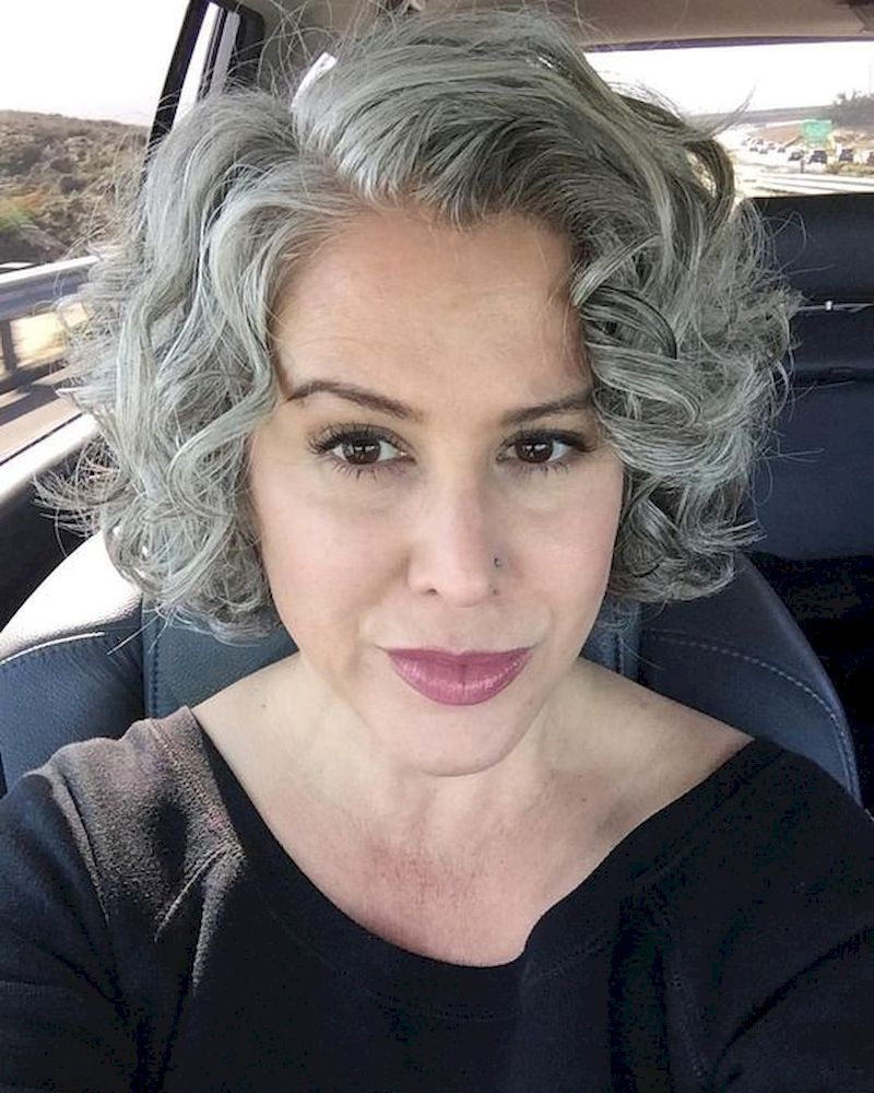 Pin By Kary Ross On Grey Silverfox Hair In 2020 Curly Hair Styles Womens Hairstyles Curly Hair Styles Naturally