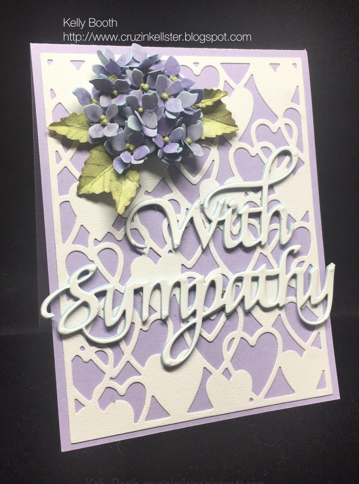 sympathy hydrangea  simple cards sympathy cards