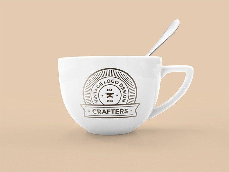 Coffee Cup Mockup Psd Vintage Coffee Cups Mockup Free Psd Free Mockup