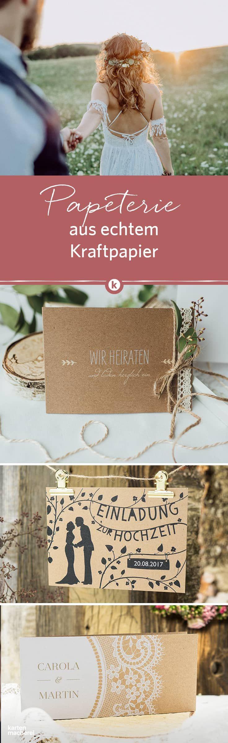 Typisch Natural Vintage Kraftpapier Als Hochzeitspapeterie Entdeckt Wunderschone Designs Auf Echtem Kra Einladungskarten Hochzeit Hochzeitseinladung Hochzeit