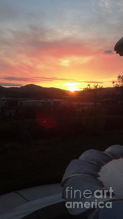 Layered Sunset By Dj Laughlin Sunset San Ramon Canyon Lake