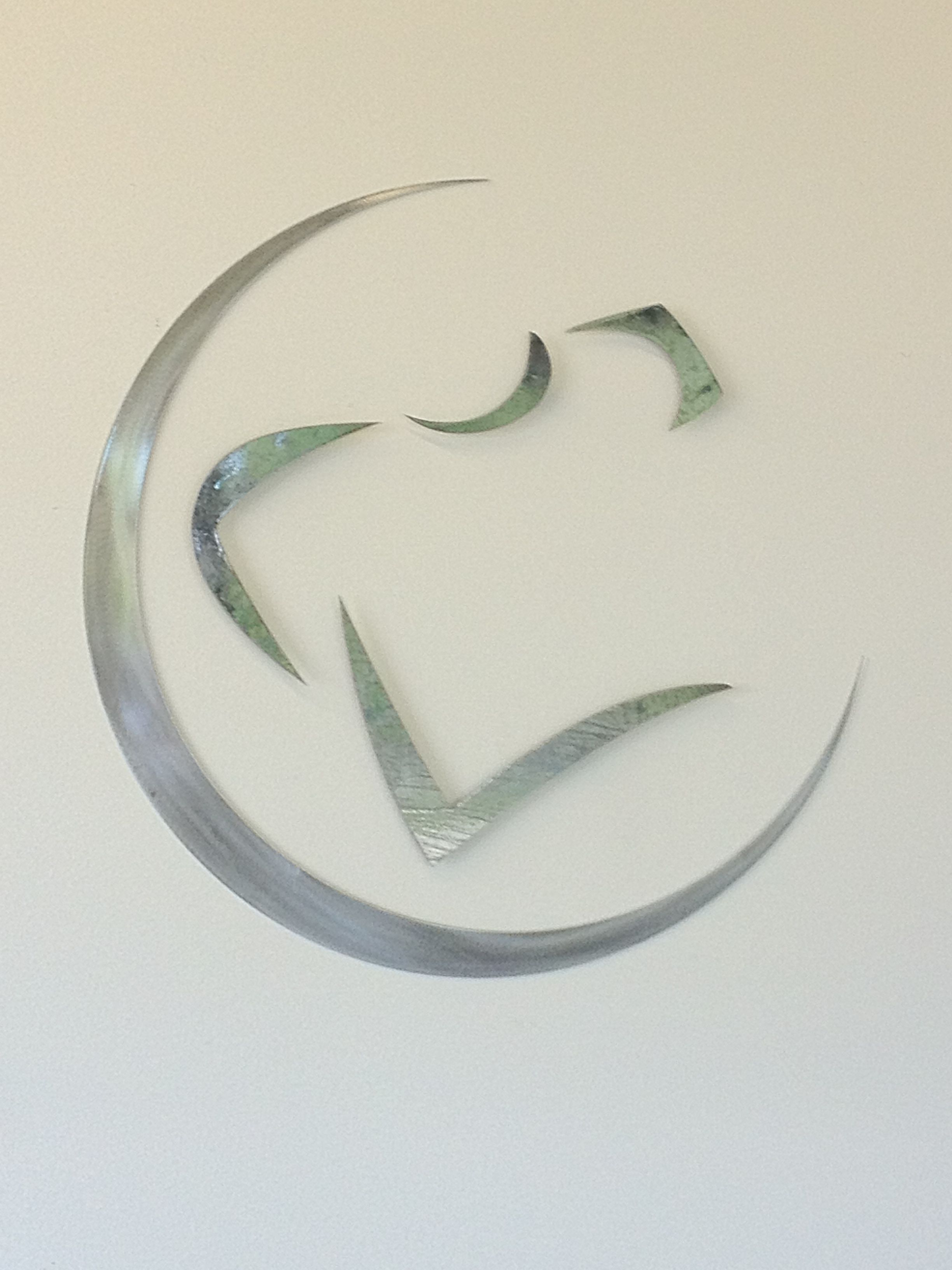 Logo done in scrap metal, loved how this turned out