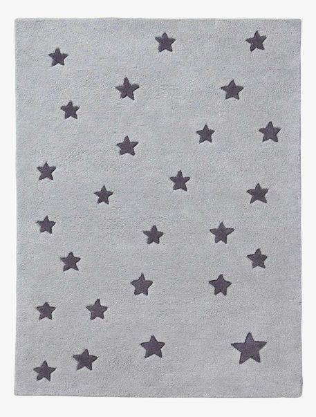 Bezaubernder kinderzimmer teppich voller sterne der for Sternentapete grau