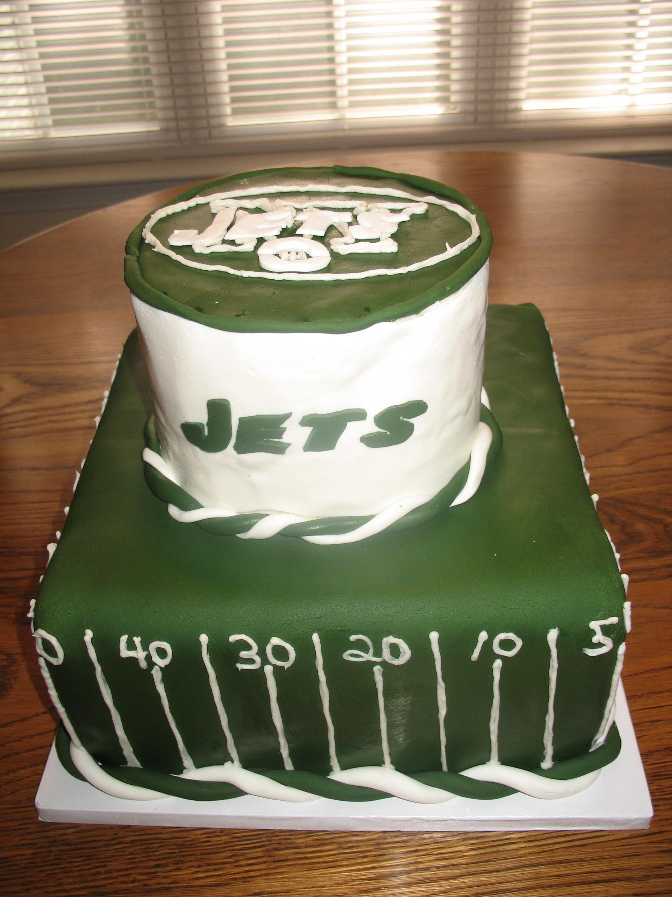 NY Jets cake wwwcheesecakeetcbiz wedding cakes Charlotte NC
