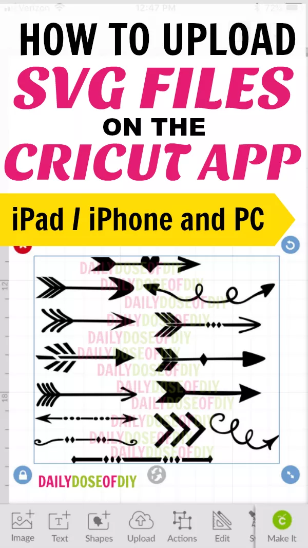 How to Upload SVG Files To Cricut Design Space On iPad