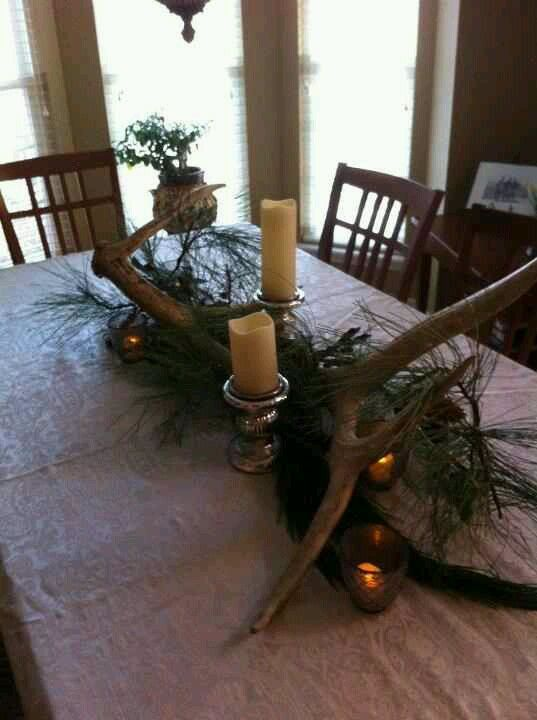 Husband S Prized Antlers Used As Centerpiece Another Brilliant