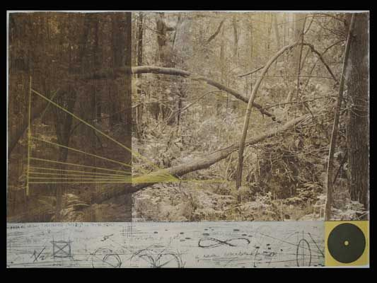MARIAH DOREN & JOHANNA PAAS, Math & Nature: Pi I, Mixed Media Print, van dyke, intaglio, relief, silk screen.