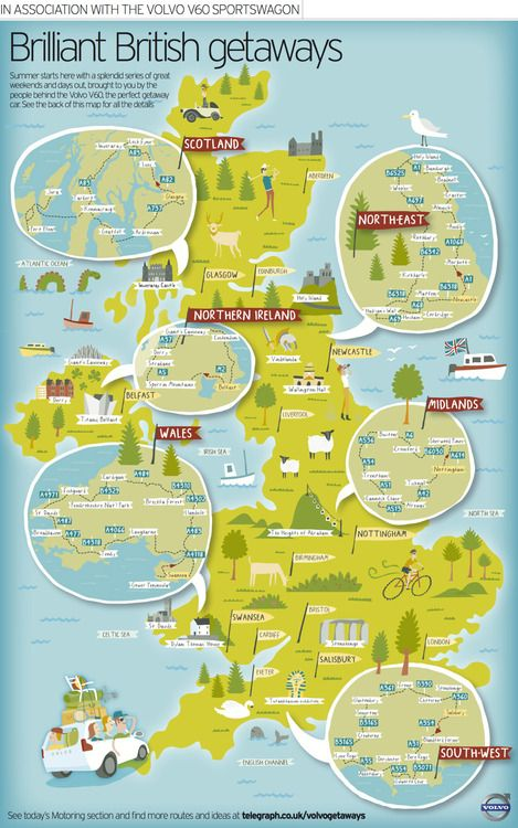 Interactive Map Of England.Volvo Interactive Map Of Driving Routes Art Pinterest Map