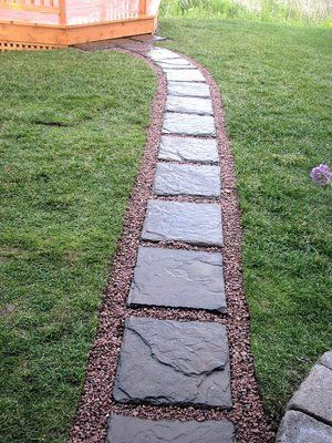 Stepping stone pathway ideas and heres a picture i took for Stone pathway design ideas