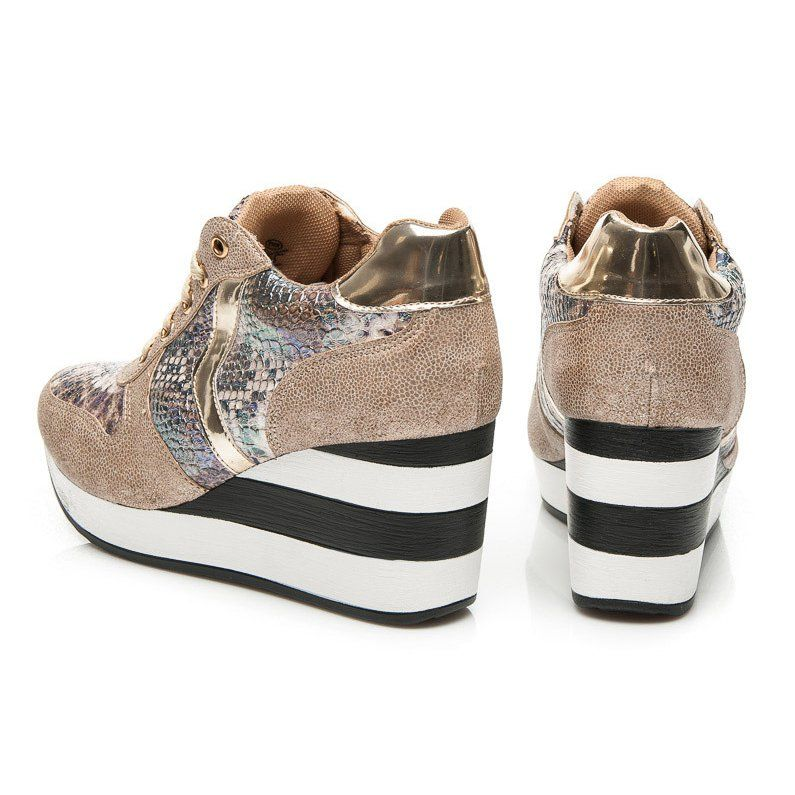 Sergio Todzi Sneakersy Na Koturnie Zolte Baby Shoes Shoes Wedge Sneaker