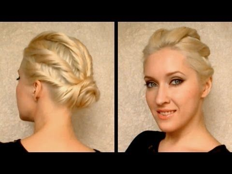 VIDEO: Party Hairstyle For Prom, Wedding For Medium Long Hair Coiffure  Facile A Faire