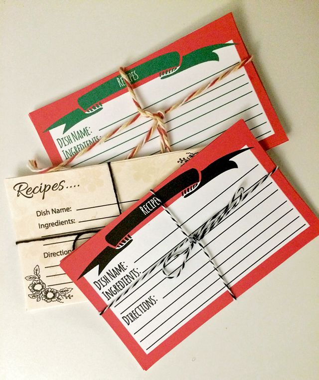 Free Printable Recipe Cards // A Well Crafted Party