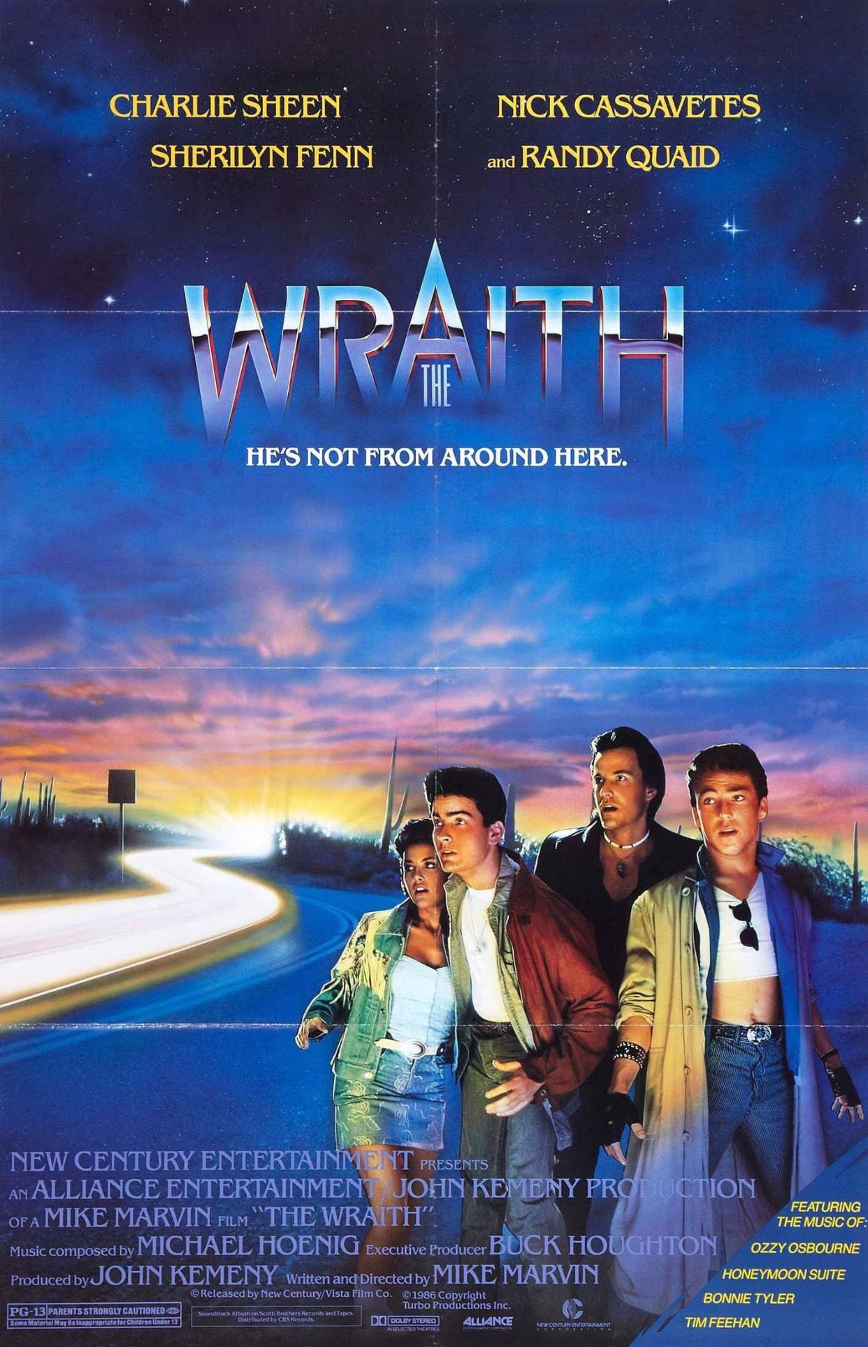 The Wraith 80's Charlie Sheen Movie Movie Related Fun
