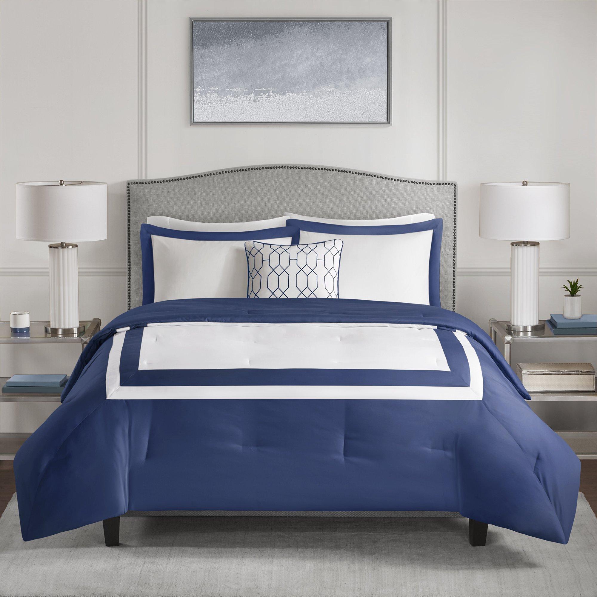 510 Design Hanson Navy (Blue) 4piece Comforter Set (King