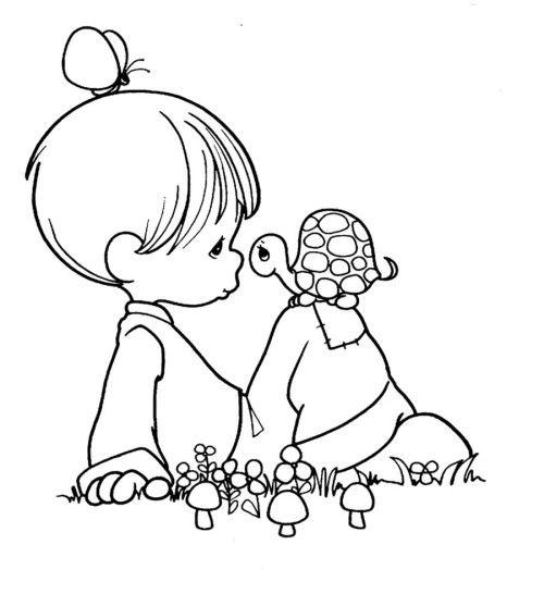 precious moments and little turtle coloring books free