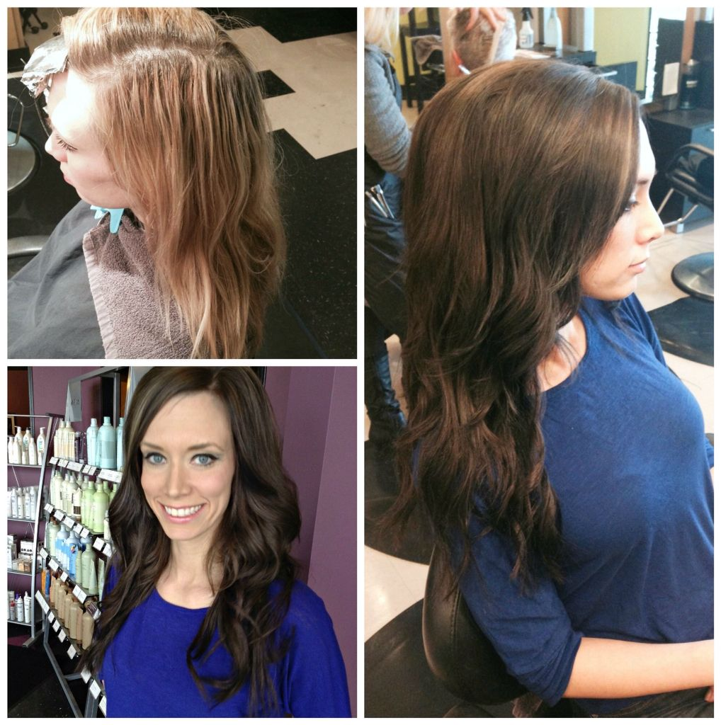 Brunette Makeover By Master Senior Stylist Lisa With Customized Clip