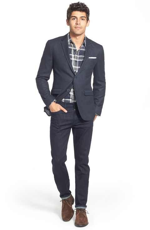 Ted Baker London Sport Coat, Grayers Sport Shirt & 7 For All Mankind® Jeans