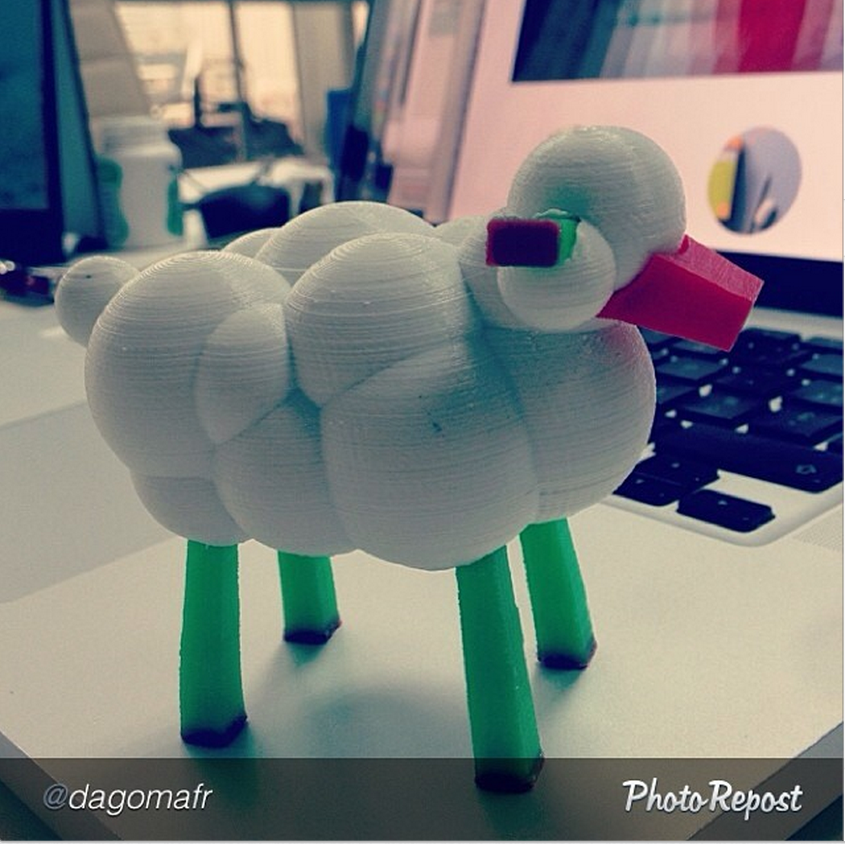 """""""LEO the Maker Prince"""" author Carla Diana makes her last free MakerBot Industries store appearance tomorrow, Feb. 1, at 1pm in Greenwich, CT. http://makezine.com/book-promotions/ People all over the world are downloading and printing characters from LEO, like this sweet sheep. Join in the fun!"""