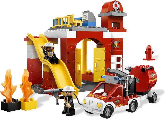 6168 Remiza Straży Pożarnej Fire Station Klocki Lego Duplo Lego