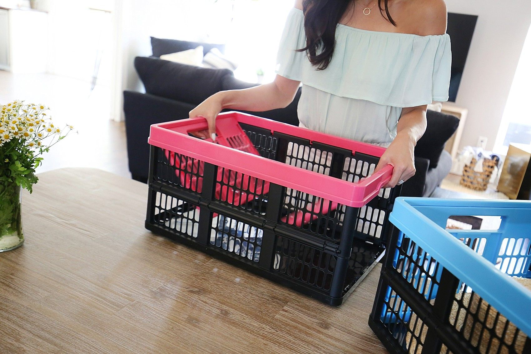 Saving Space With Clevermade Collapsible Crates Crates Home