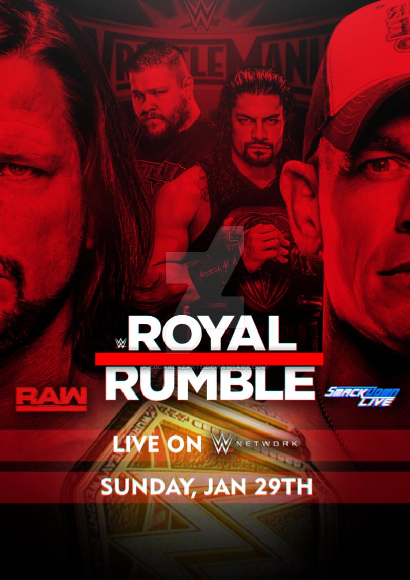 Wwe Royal Rumble 2017 Custom Poster Hd By Edgarlazarte Wwe Royal Rumble 2017 Royal Rumble Wwe Royal Rumble